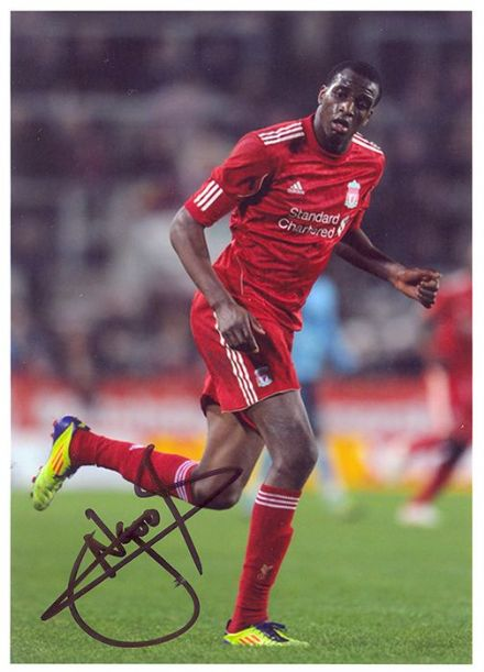 Michael Ngoo, Liverpool, signed 7x5 inch photo.